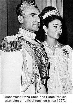 Mohammad Reza Pahlavi Family | Mohammad Reza Pahlavi, the king of Iran and Shahbanou Farah Pahlavi ...