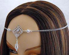ITEM  1421 Pearl Elvish Medieval wedding by DawnHillDesigns, $14.99