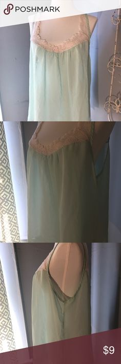 Lilly white sheer sea foam green lace tank top- XL Lilly white sheer sea foam green lace tank top- XL Lily White Tops Tank Tops