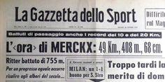 SCRIVOQUANDOVOGLIO: CICLISMO:IL RECORD DELL'ORA DI EDDY MERCKX (25/10/...