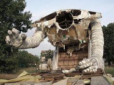 urbex-exploration: monster at an abandoned amusement park