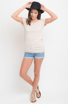 Side Ruched Short Sleeve Top | Small -3XL | Jane