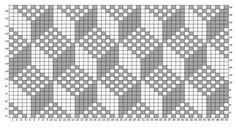 3D Crochet Diagram, Crochet Chart, Knit Crochet, Knitting Charts, Knitting Stitches, Knitting Patterns, Tricot Simple, Tapestry Crochet Patterns, Fillet Crochet