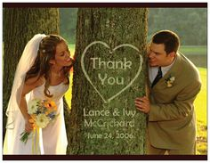 Great idea for wedding thank you cards.