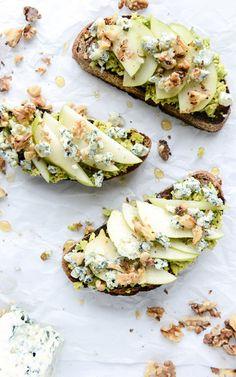 Gorgonzola + Pear Avocado Toast Recipe