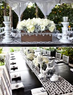Glam Winter Table + Cool Silver Succulents By Hostess With the Mostess