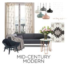 """MID-CENTURY MODERN"" by salmanabilaaah on Polyvore featuring interior, interiors, interior design, home, home decor, interior decorating, Nordstrom, Anthropologie, LSA International and modern"