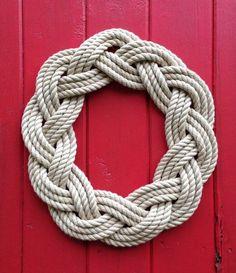 Get nautical this holiday season with an original Sailwinds turks head sailor knot wreath. Each wreath is hand-woven in coastal Maine using