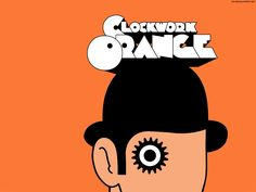 #UWBookMadness A Clockwork Orange by Anthony Burgess | Narrated by teenaged Alex, A Clockwork Orange is THE dystopian novel to beat. Readers follow Alex through orgiastic violence, prison and aversion therapy, and his release back into society. Burgess explores themes of evil in human nature, evil in government and well, evil.