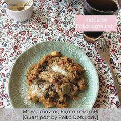 Κυριακή στο σπίτι: Μαγειρεύοντας Ριζότο κολοκύθι [Guest post by Polka Dots Lady]