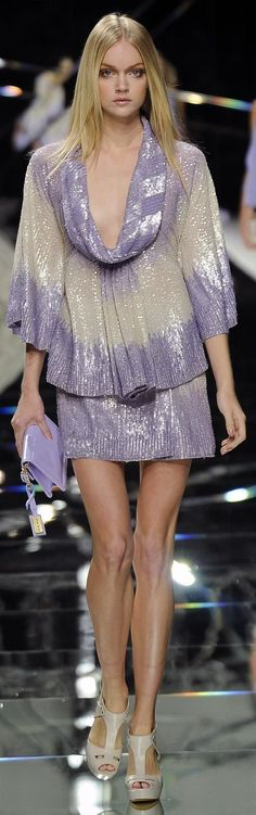 Elie Saab Spring/Summer 2009 - lilac and white dress - Love everything about this look!