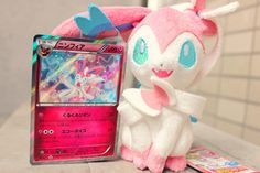 Sylveon plushie and card! ... sylveon, pokemon, card, plush toy