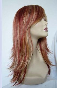 Daphne // Strawberry Blonde Highlighted Full by ginabarto on Etsy, $64.00