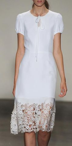 Nice floral lace detail at the bottom of this dress