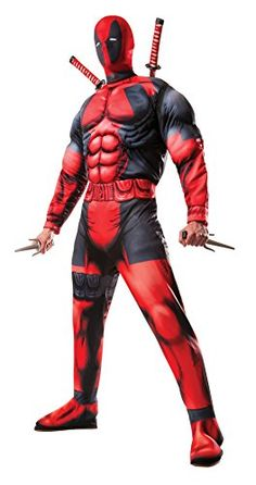 A Marvel Deadpool Costumes Sale? These Marvel Deadpool costumes will have you looking like our favorite antihero in time for your office costume party or Halloween. Deadpool Halloween Costume, Maske Halloween, Adult Halloween, Cool Halloween Costumes, Superhero Halloween, Halloween Party, Halloween 2015, Superhero Store, Halloween Man