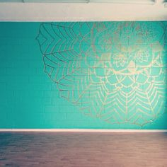 Amazing mandala in my yoga studio, my sisters are incredible!