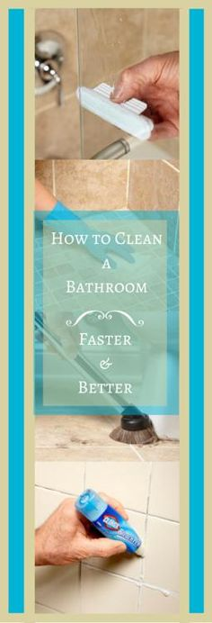 How to Clean a Bathroom Faster and Better: Heavy duty solutions for bathroom dirt and grime. http://www.familyhandyman.com/cleaning/how-to-clean-a-bathroom