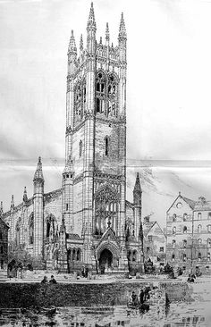1890 - Competitive Design for Holy Trinity, Cork - Architecture of Cork City, Unbuilt Ireland - Archiseek.com
