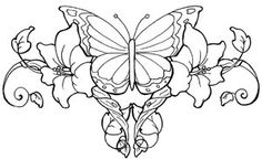 Flower Vine Tattoo with Butterfly | Butterfly Lower Back Tattoo and Flower Tattoo Design For Girls