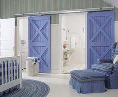 Your blue on barn doors, love the X