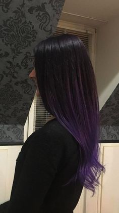 Purple hair, dark purple hair, purple balayage, purple hair color,