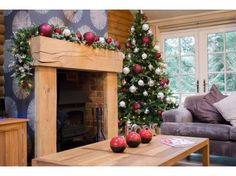 Christmas in a Log Cabin