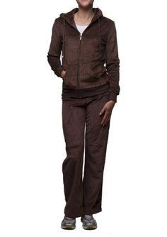 PRETTY BIRDS Women's Velour Hooded Fur Trim Jacket & Draw String Pant Set - List price: $82.75 Price: $27.95 Saving: $54.80 (66%)