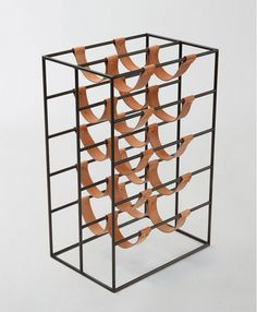MARCH Worktable Accessory Leather Wine Rack