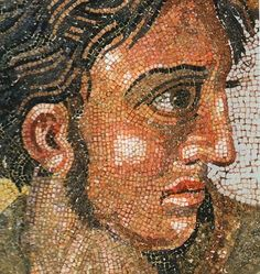 *POMPEII, ITALY ~ Close up of Alexander the Great from the famous mosaic from Pompeii, now in the National Archaeological Museum in Naples. http://cir.campania.beniculturali.it/museoarcheologiconazionale/