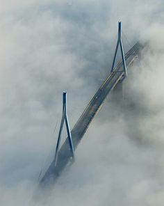 Hamburg - Köhlbrandbrücke bei Nebel