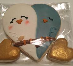 Lovebird Wedding Favors by @cookiesbykatewi inspired by Little Wonderland