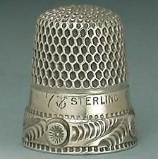 Antique Sterling Silver Thimble by Stern Bros. & Co. * Circa 1900