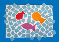 Mozaique d'été pour petites mains