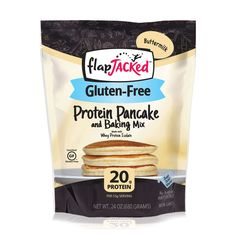 FlapJacked Gluten-Free Buttermilk Protein Pancake and Baking Mix, Gluten Free Cooking, Gluten Free Recipes, Best Pancake Mix, Pancake Breakfast, Protein Waffles, Moist Banana Bread, Apple Smoothies, Gluten Free Breakfasts, Healthy Baking