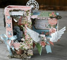 Sweetly whimsical piece of Secret Garden altered art by G45's Miranda. She created this shabby-chic altered Matchbook Box that definitely captures the fun-loving spirit of the season! With video tutorial.