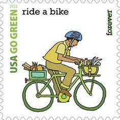 Timbre #vélo, 2011, Etats-Unis (via TIMBROVELO)