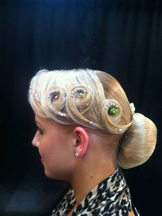 Swirls & Stones #Ballroom #Hair