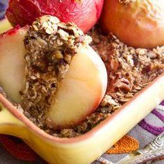 Baked Apples Stuffed with Cinnamon Date Pecan Oatmeal — Punchfork