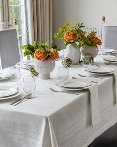 SFERRA's Baressa table linens - subtle, classic, modern