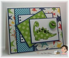 Dino-Mite Dinosaur by PaperCrafty - Cards and Paper Crafts at Splitcoaststampers