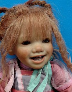 "Sweet 2005 Annette Himstedt Vinyl 20"" Doll Laughing Tinke LE377 Germany 