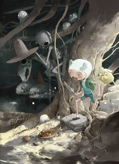 Adventure Time Comics (Cover C Antonio Sandoval) Adventure Time Anime, Adventure Time Wallpaper, Marceline, Cartoon Network, Princesse Chewing-gum, Adveture Time, Finn The Human, Jake The Dogs, Mexican Artists