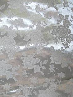 Silver Eversong Brocade Fabric - Bridal Fabric by the Yard