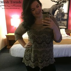 I love that this mesh pullover basically works all year round. It is neutral in colour so it transcends seasonal trends. It is lightweight enough for summer nights or days in an air-conditioned office, but depending on what you pair it with, the three-quarter length sleeve helps you transition it into fall and even winter. #psootd #fatshion #plussize #psblogger