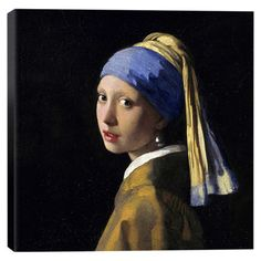 Add a touch of elegant sophistication to your foyer gallery wall or living room vignette with this canvas reproduction of Johannes Vermeer's Girl with a P...