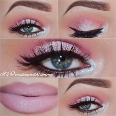 """""""Happy first day of spring. This look I created today reminds me of a sparkly cupcake. hehe! ☺️✨ Details • @makeupgeektv eyeshadows... Shimma Shimma,…"""""""
