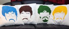 Cool Colorful Diy Beatles Pillows @Stephanie Close Bair