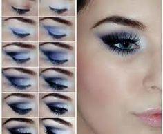 maquillaje de noche azul - Buscar con Google