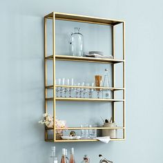 Get organized with wall shelves and more from Ballard Designs! Find floating wall shelves for decor and organization today! Glass Shelves Kitchen, Bathroom Shelves, Kitchen Cabinets, Bathroom Storage, Hanging Shelves, Display Shelves, Shelves Lighting, Display Cabinets, Wall Mounted Shelves