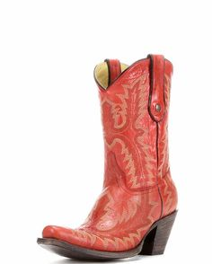 Women's Red Fancy Stitch Boot - G1900 - lookin' good for Rockin' the Red!